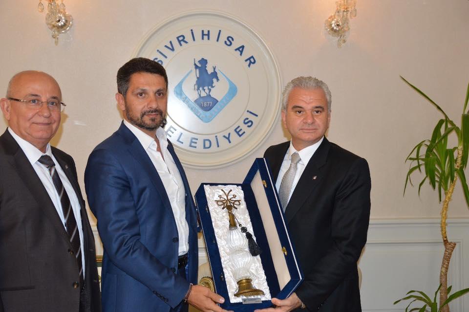 Eskişehir Ticaret Odası Başkanı Metin Güler Sivrihisar Belediye Başkanımız Hamid Yüzügüllü'yü Ziyaret Etti