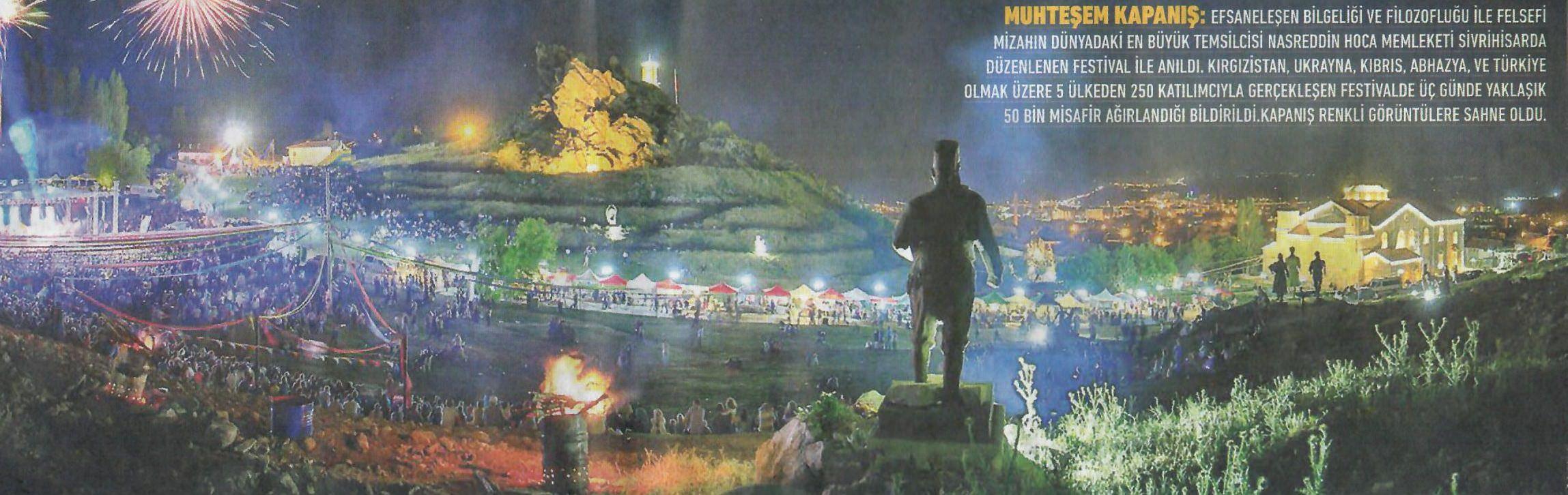Nasreddin Hoca Festivali Muhteşem Kapanış