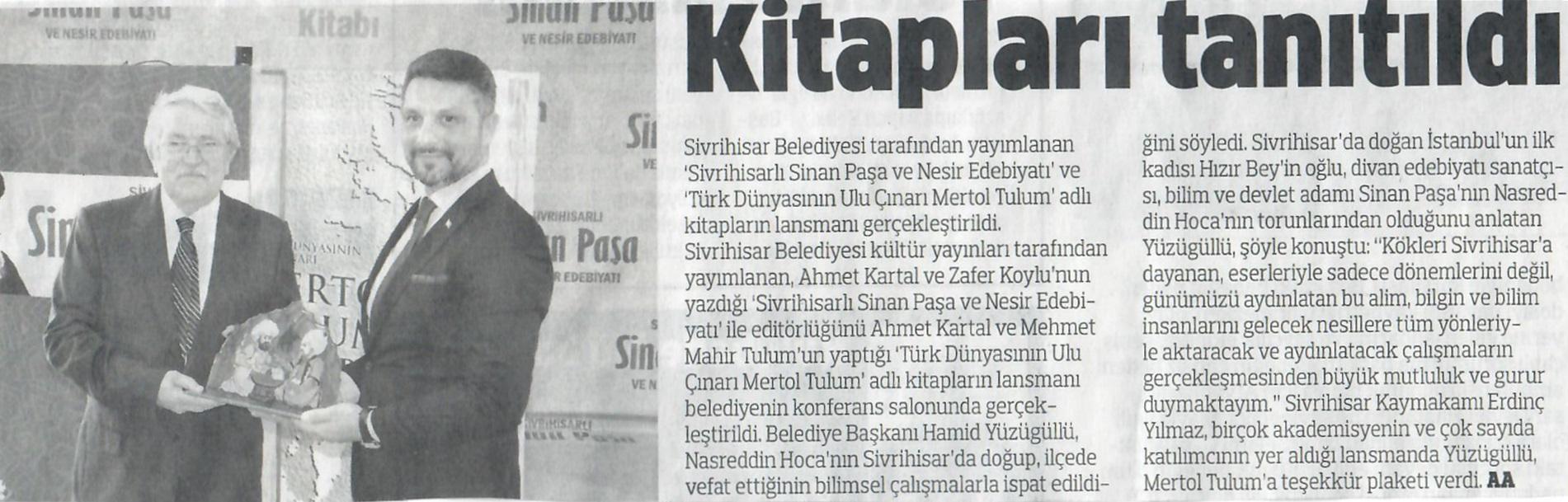 Sinan Paşa ile Mertol Tulum Kitapları Tanıtıldı