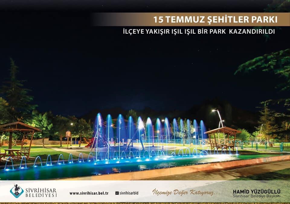 15 Temmuz Demokrasi ve Şehitler Parkı Yapıldı…