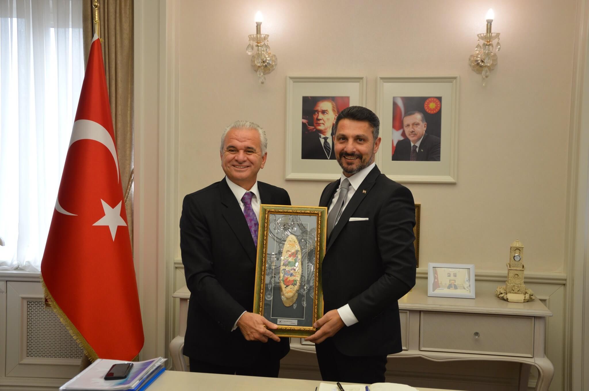 Eskişehir Ticaret Odası Başkanı Metin GÜLER'e, Meclis Başkanı Halil İbrahim ARA'ya ve Değerli Yönetim Kurulu Üyelerinden Oluşan Heyete Nazik Ziyaretleri İçin Teşekkürlerimi Sunarım