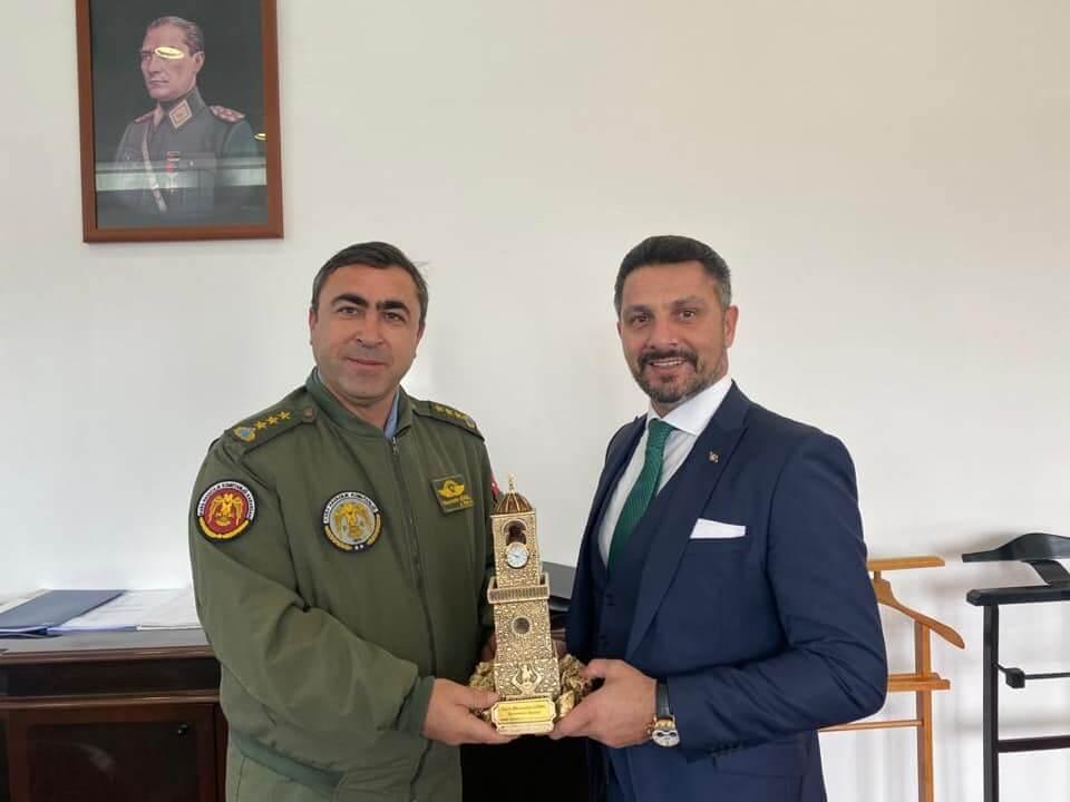 Sivrihisarlı Hemşehrimiz Kara Hava Pilot Albay Kurmay Başkanı Hüsamettin GÜREL'i Makamında Ziyaret Ettik.