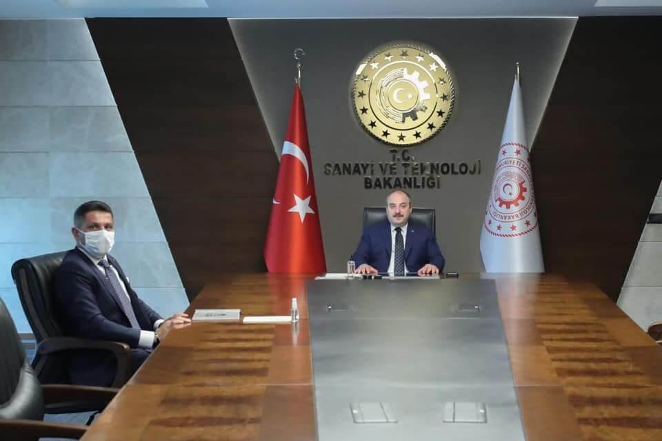 Sanayi ve Teknoloji Bakanımız Sayın Mustafa VARANK'ı Makamında Ziyaret Ettik.