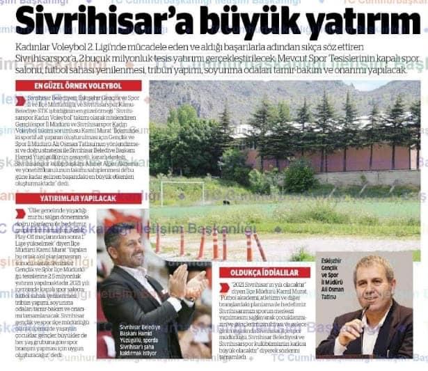 SİVRİHİSAR'A 2,5 MİLYONLUK YATIRIM !